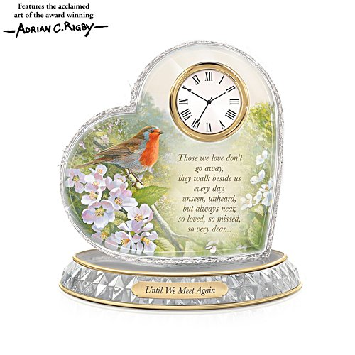 'A Love So Dear' Robin Heart Clock