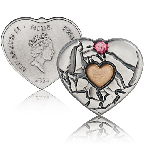 The Heart within A Heart  Fine .999 Silver Coin