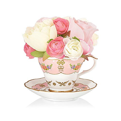 'Queen's Royal Bouquet' Teacup And Saucer Ornament