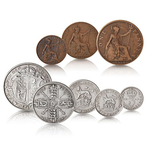 The First World War British Coin Set