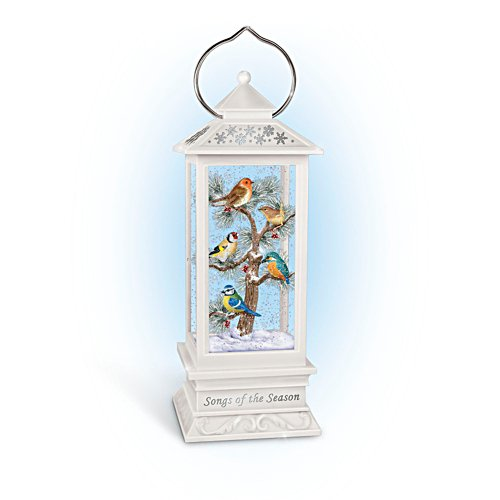 'Songs Of The Season' Illuminated Songbird Snowglobe Lantern