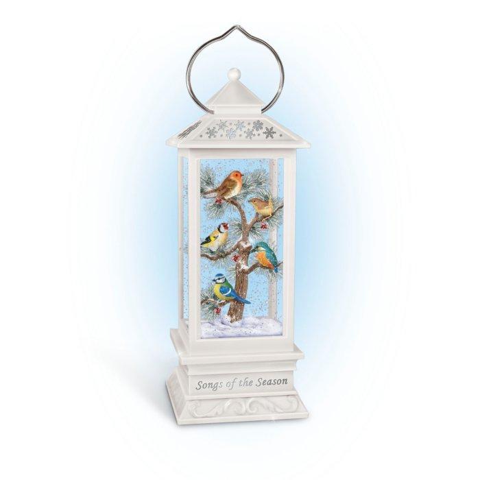 'Songs Of The Season' Illuminated Songbird Snowglobe Lantern