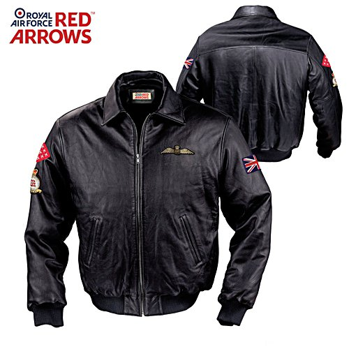'Red Arrows' Men's Leather Jacket