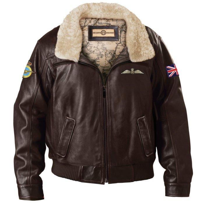 920d477ba RAF Aviator Genuine Leather Men's Jacket