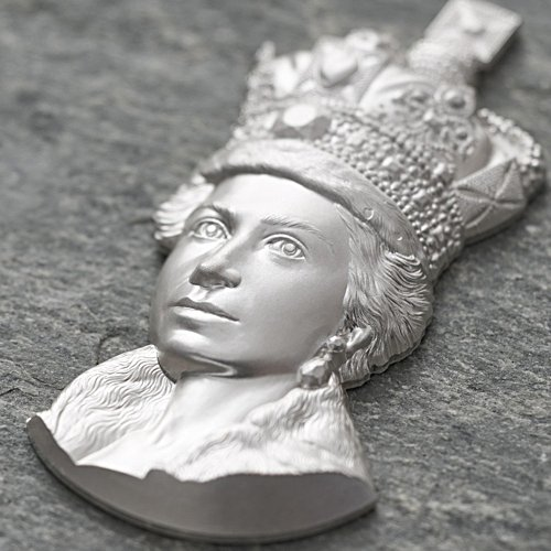 The Ultra High-Relief Queen's Portrait 2oz Silver Coin