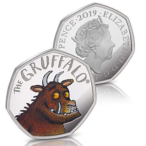 The 2019 Gruffalo Silver Proof Fifty Pence Coin