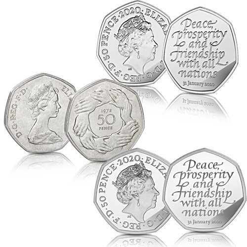 The UK Brexit Fifty Pence Coin Set