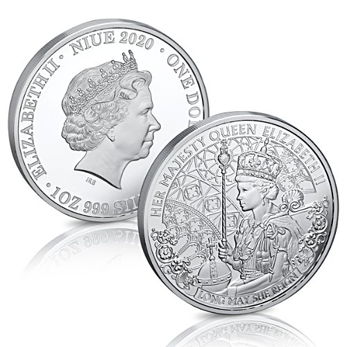The Long May She Reign 1oz Silver Coin
