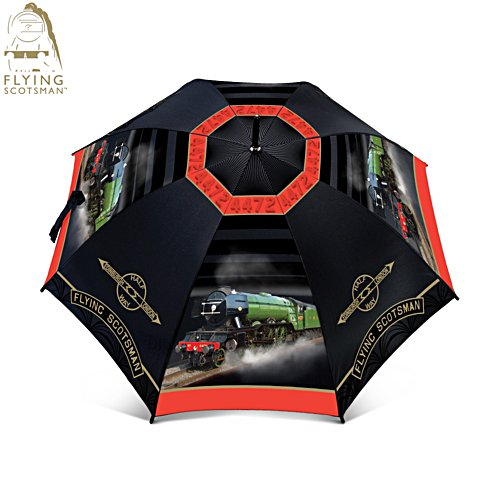 Flying Scotsman 'Majesty Of Steam' Gent's Walking Umbrella