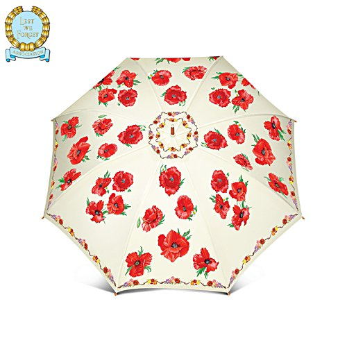 'Lest We Forget' Poppy Umbrella