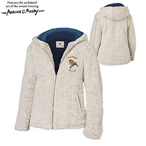 'Messenger Of Love' Robin Sherpa Fleece Ladies' Jacket