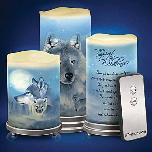 Wolfsfeuer – Kerzen-Set mit Fernbedienung