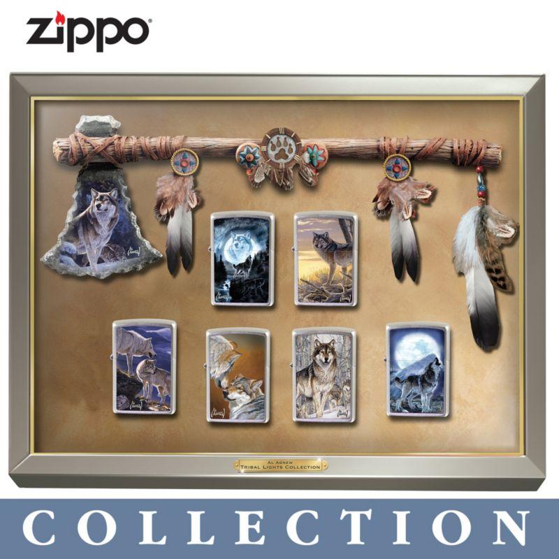 Al Agnew Tribal Lights Zippo® Lighter Collection & Al Agnew Wolf Zippo Collection: Al Agnew Tribal Lights Zippo ...