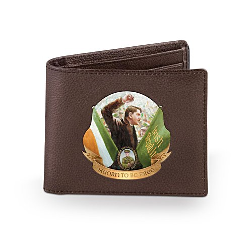 'Michael Collins' Men's Leather Wallet