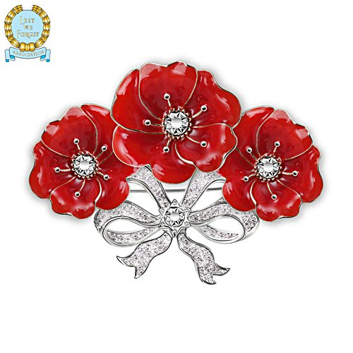'Bouquet Poppy' Swarovski® Crystal Brooch