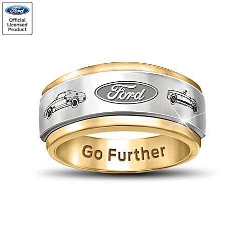 'Ford Go Further' Men's Spinning Ring
