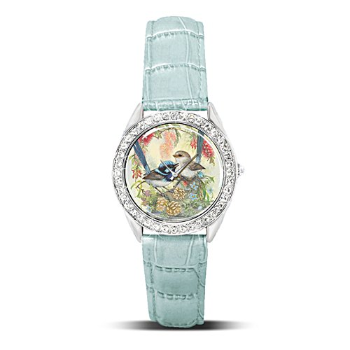 'Superb Fairy Wren' Swarovski® Crystal Ladies' Watch