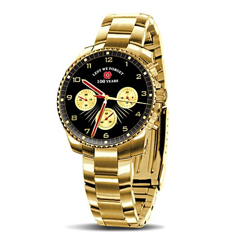 'Lest We Forget' Men's Gold Watch
