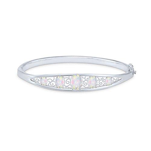 Australian White Opal Bracelet