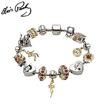 'Legend Of Elvis™' Charm Bracelet