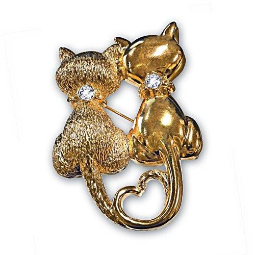 'Sophisti-Cat' Swarovski® Brooch