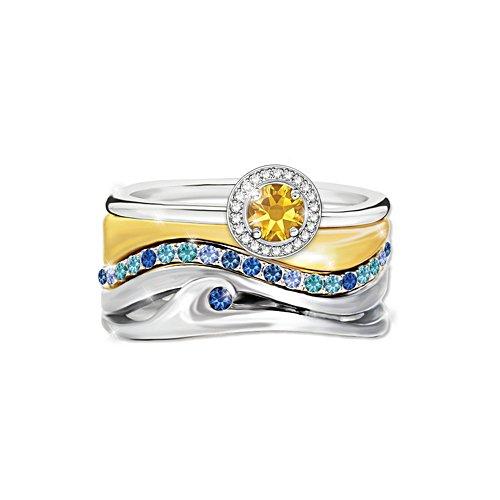 'Endless Summer' Ladies' Diamonesk® Trio Ring