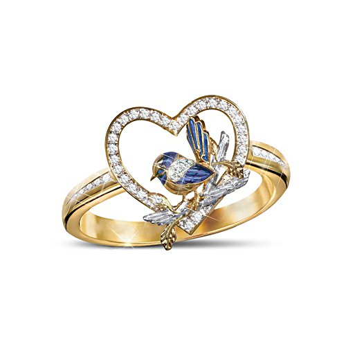 'Jewel Of Nature' Fairy Wren Ladies' Ring