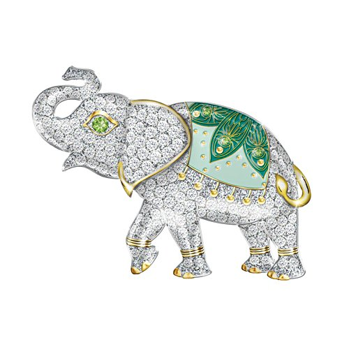 'Lucky Elephant' Swarovski® Crystal Ladies' Brooch