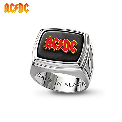 'AC/DC Back In Black' Men's Ring
