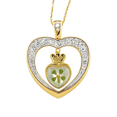 'Diamond Blessings' Clover Pendant