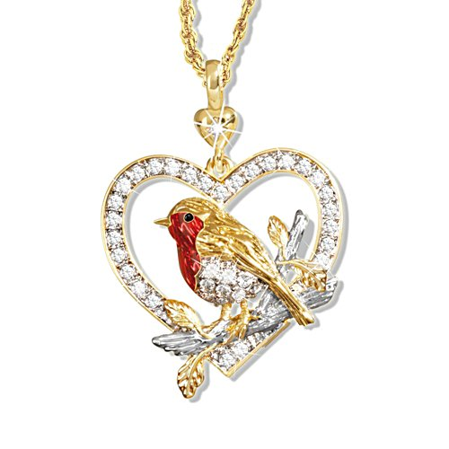 'Jewel Of Nature' Swarovski® Robin Pendant