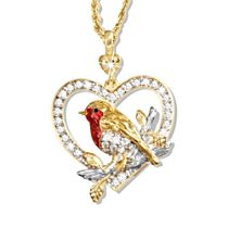 'Jewel Of Nature' Swarovski® Crystal Robin Pendant