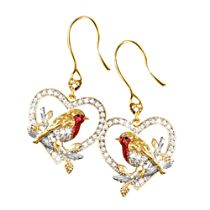 'Jewel Of Nature' Diamond Robin Earrings