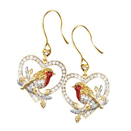 'Jewel Of Nature' Diamond Robin Earrings