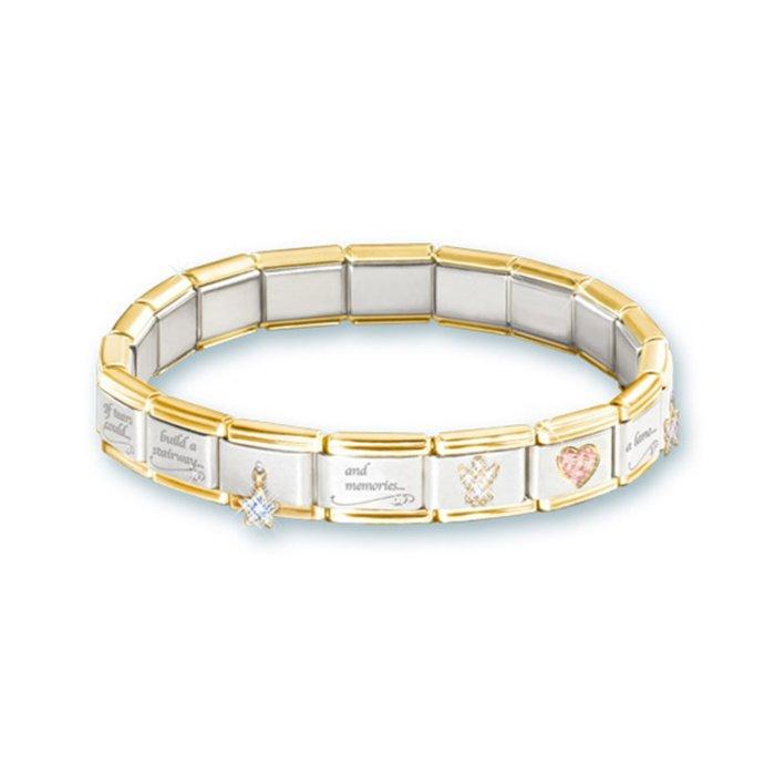 Always In My Heart Italian Charm Bereavement Bracelet
