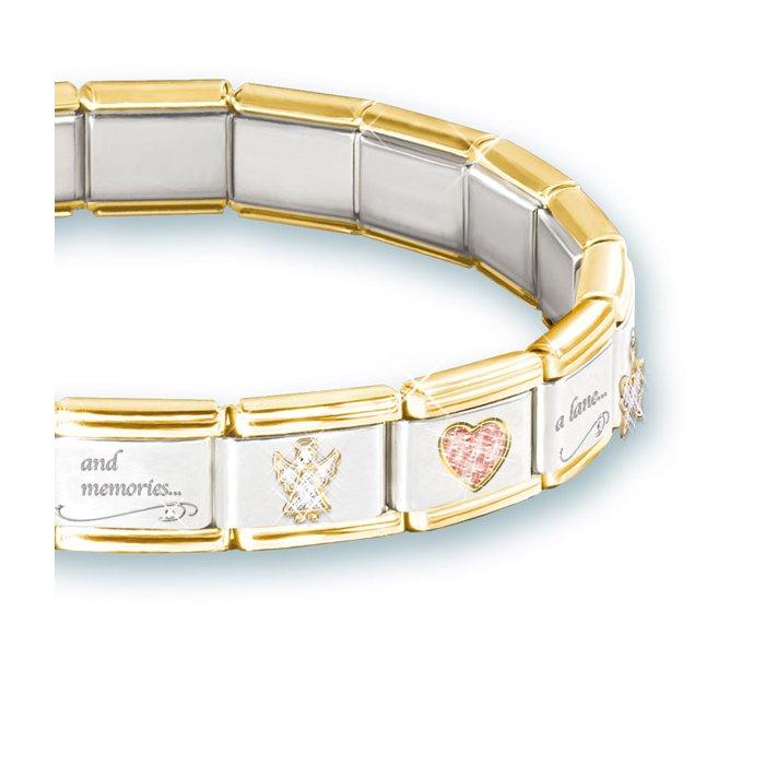 f4fce8cc3 Always In My Heart' Italian Charm Bereavement Bracelet