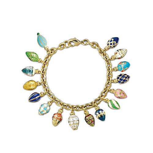 'Treasures Of The Heart' Fabergé-Inspired Charm Bracelet