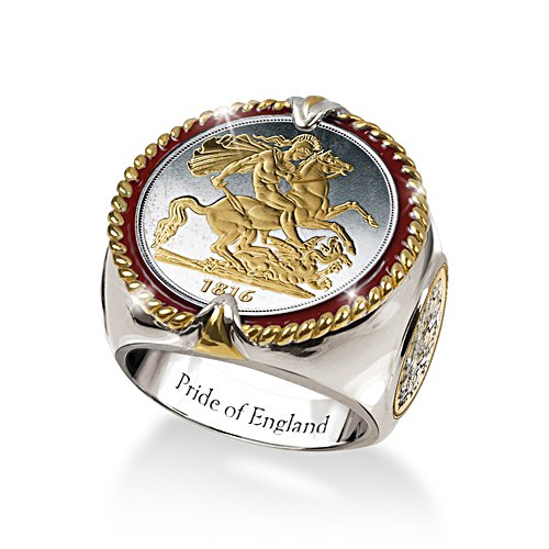 'Pride Of England' St. George & The Dragon Men's Ring
