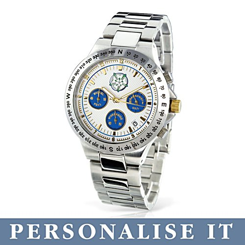 'Pride Of Yorkshire' Men's Personalised Chronograph
