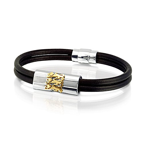 'Spirit Of England' Men's Leather Wristband