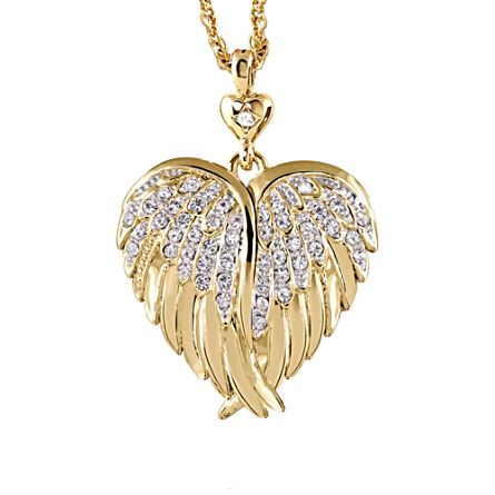 'Guardian Angel Embrace' Diamond Locket