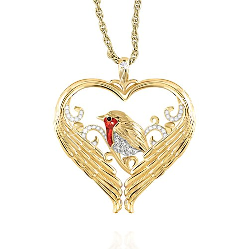 'Messenger Of Love' Robin Diamond Pendant