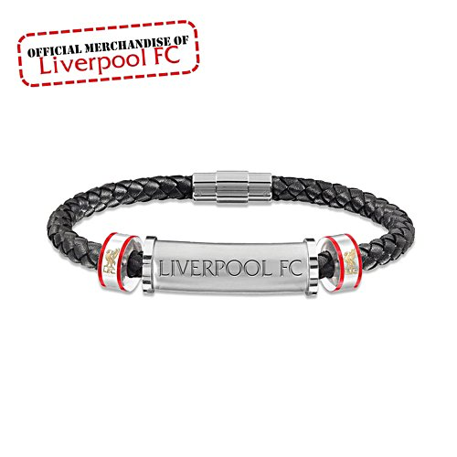 Liverpool FC 'My Son, My Pride You'll Never Walk Alone' Leather Bracelet