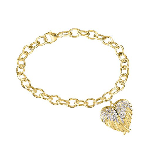 'Guardian Angel Embrace' Diamond Locket Bracelet