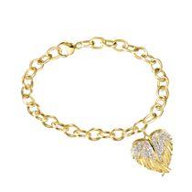 'Guardian Angel Embrace' Diamond Locket Bracelet