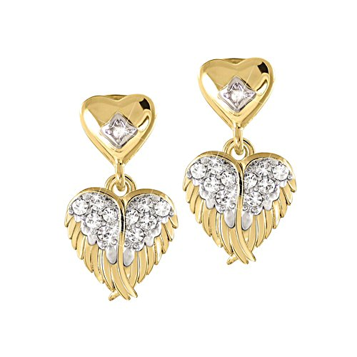 'Guardian Angel Embrace' Diamond Earrings