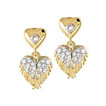 'Guardian Angel Embrace' Diamond Earrings