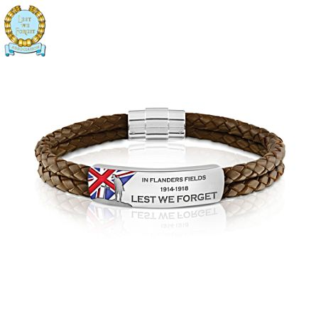 WWI Armistice 100th Anniversary Commemorative Men's Wristband