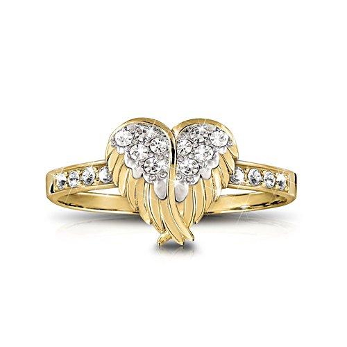 Beschermende hemelse vleugels – damesring