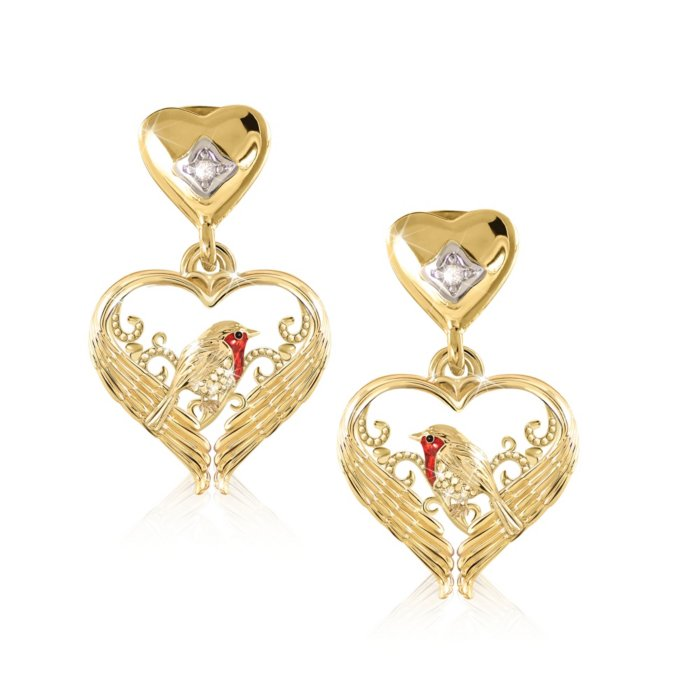 Messenger Of Love Robin Diamond Las Earrings